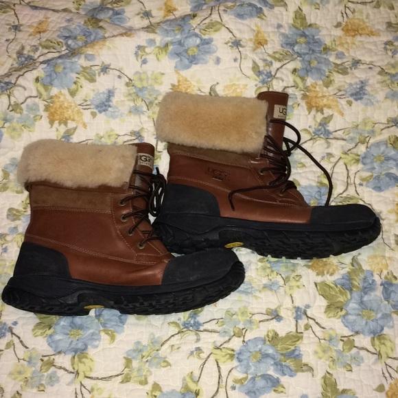 5688ea2e8d8 UGG vibram leather & Sheepskin boots waterproof